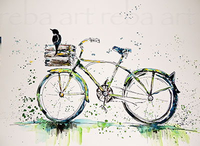 Meet the artist for Bicycle painting near me